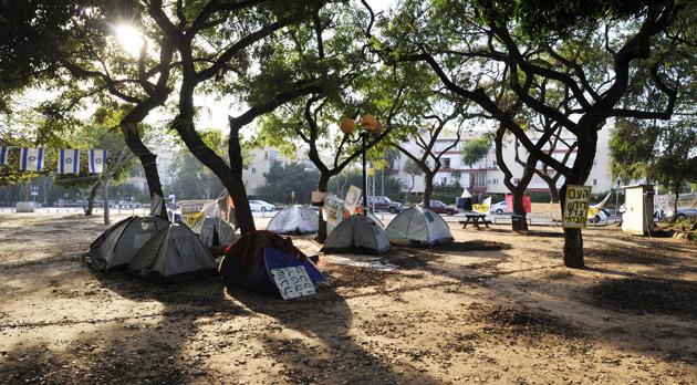 מאהל מחאה חברתית מחוסרי דיור תל אביב