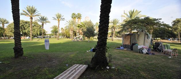 מאהל מחוסרי דיור תל אביב